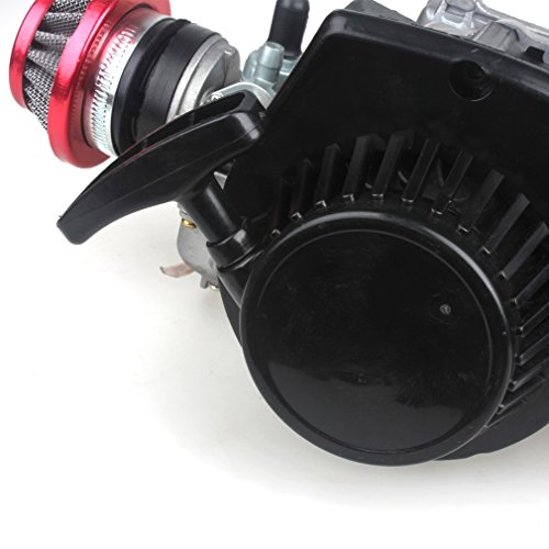 49CC 2-Stroke Engine + Handle Bar+ Throttle Cable +Air Filter Motor Pocket Mini Bike Scooter ATV 6T T8F Chain 44MM Bore by Wingsmoto (Image #8)