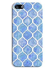 Blue Watercolour Lace Print Design For SamSung Note 4 Phone Case Cover Hard