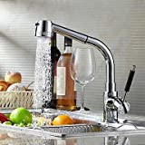Contemporary Bar/­Prep Deck Mounted Ceramic Valve One Hole Single Handle One Hole forChrome Kitchen faucet North America