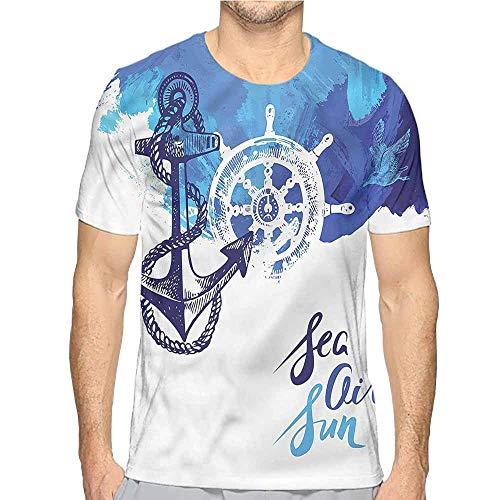 Funny t Shirt Nautical,Nautical Wheel Ocean Men's and Women's t Shirt XL ()