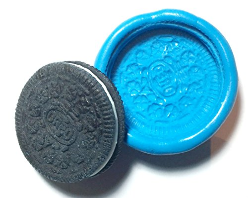 Large Oreo Cookie Flexible Food Grade Silicone Push Mold for Polymer Clay, Resin,wax,miniature Food,…