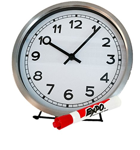 360 THinking Tickless Clock(non magnetic), Stand and Dry Erase Marker