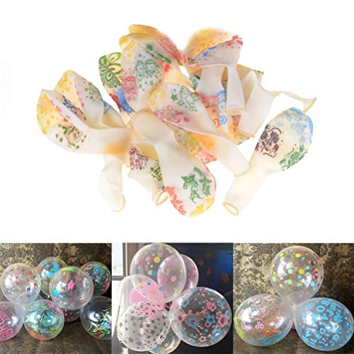 Ballons & Accessories - 10pcs 12 Inch Transparent Balloon Mixed Color Wedding Birtday Party Decoration - Accessories Ballons Balloons Ballons Accessories Flower Disney Princess Birthday -