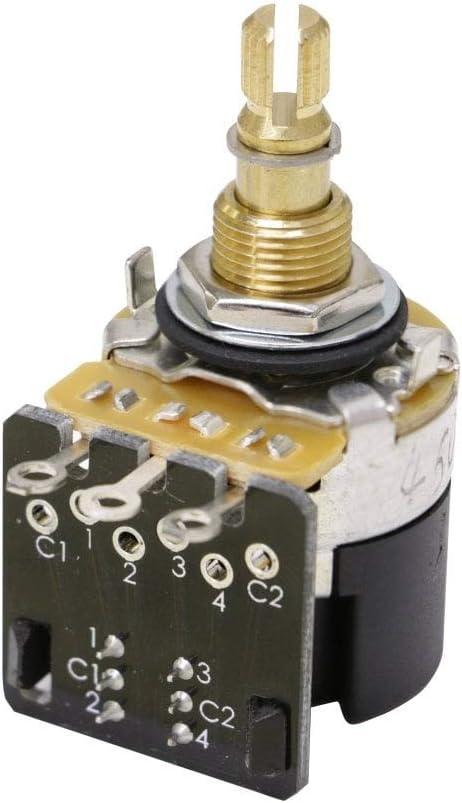 CTS Push Pull DPDT Pot 250k Audio Taper 24 Spline Spilt Shaft
