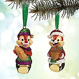 Disney Chip \'N Dale Bell Christmas Holiday Ornament Set