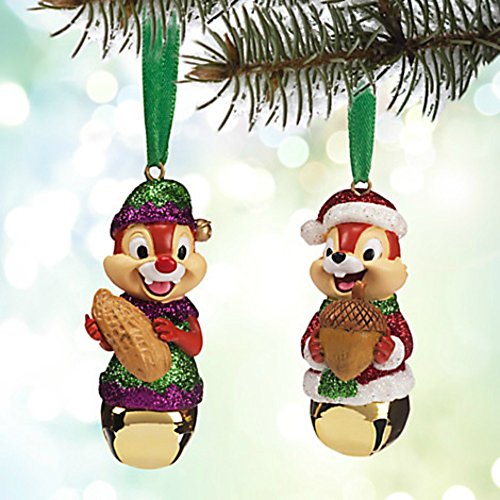 Chip Dale Christmas - Disney Chip 'N Dale Bell Christmas Holiday Ornament Set