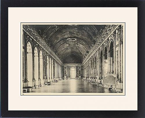 Framed Print Of Versailles/mirrors 1904 by Prints Prints Prints