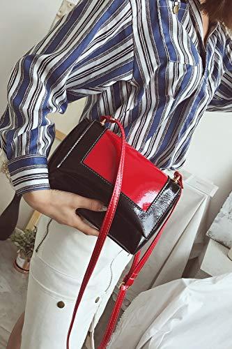 Cuir De Couture Simple Couleur Épaule Unie Voiture Ypsg Red Pu En 8qOSfw5wx