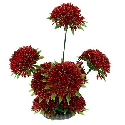 Amazon.com : eDealMax plástico acuario Planta de Emulational del ornamento, 26cm Alto, Verde/Rojo : Pet Supplies