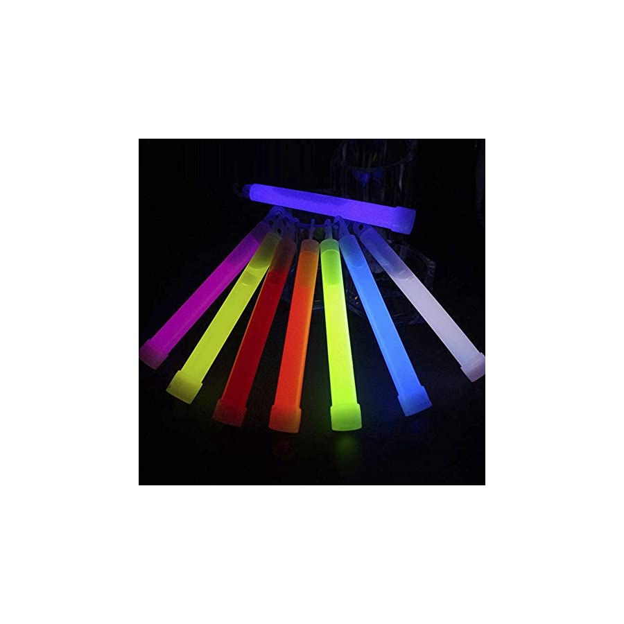 Glow Sticks,10 Pack Light Stick 5.98'' Multi color Glow Sticks Spot On Chem Light Light Sticks 8 Hours Emergency Safety Chem Light Sticks Snap lights for Concerts, Parties and Events