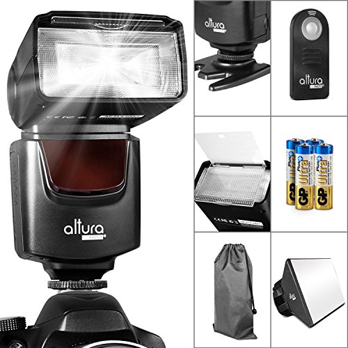 Altura Photo AP-UNV1 Speedlite Flash Bundle for DSLR Cameras with a Standard Hot Shoe Mount