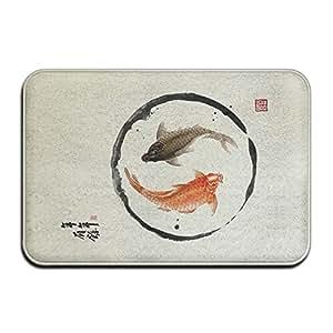 SzROSEn Alfombra de estilo japonés Yingyang para el suelo de la entrada, de 60 x 40 cm