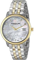 Raymond Weil Women's 'Toccata' Quartz Stainless Steel Dress Watch, Color:Two Tone (Model: 5388-STP-97081)