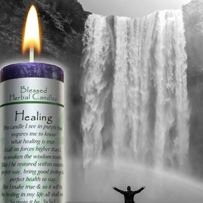 Blessed Herbal - Healing Candle