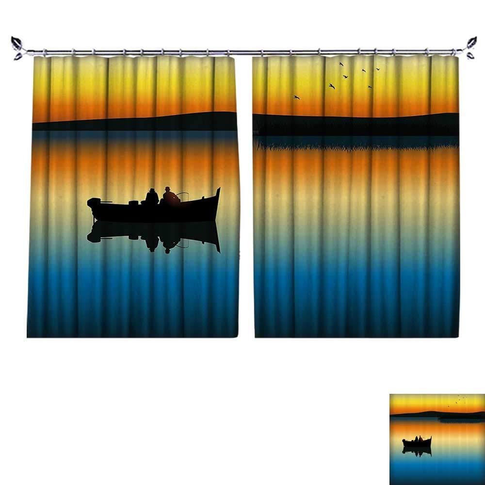 DESPKON シェーディング ピュアカラー モダン ミニマリスト スタイル 魚が川で食べる トラウラー ロッド ホーム 家具 素材 幅55 x 長さ39 W72