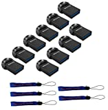 usb 64gb flash drive low profile - SanDisk 64GB Ultra Fit USB 3.1 Low-Profile Flash Drive (10 Pack Bundle) SDCZ430-064G-G46 64G Pen Drive - with (5) Everything But Stromboli (TM) Lanyard