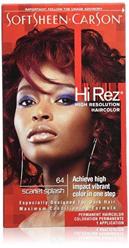Scarlet Hair Color - SoftSheen-Carson Hi Rez High Resolution Haircolor, Scarlet Splash 64