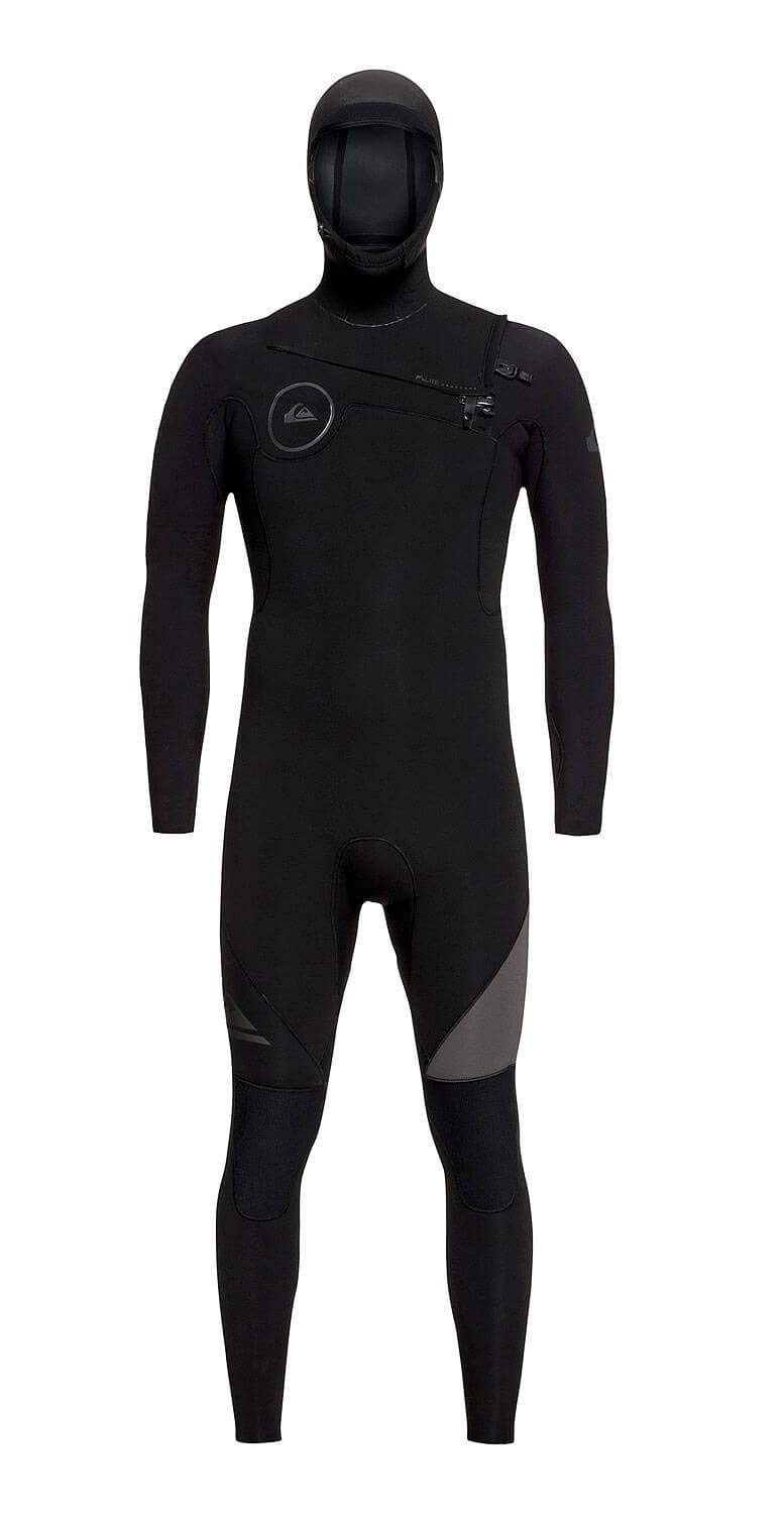 Quiksilver Mens 5/4/3Mm Syncro Series - Hooded Chest Zip GBS Wetsuit for Men Hooded Chest Zip GBS Wetsuit Black XXL by Quiksilver