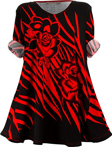 Rouge bohme Tunique Taille Hiver Longue Rouge Charleselie94 Rouge Grande Savana wYfUaxYnZq