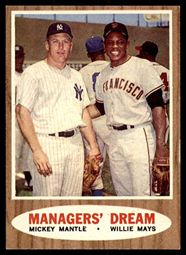Baseball MLB 1962 Topps #18 Mickey Mantle/Willie Mays Managers' Dream Ex-Mint