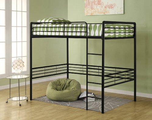 Dhp Full Metal Loft Bed With Ladder Space Saving Design