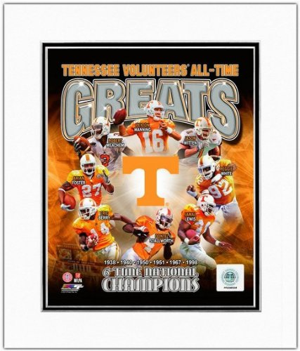 Peyton Manning 8x10 Matted Photo - Tennessee Volunteers NCAA Football All Time Greats Photo 11x14 Matted