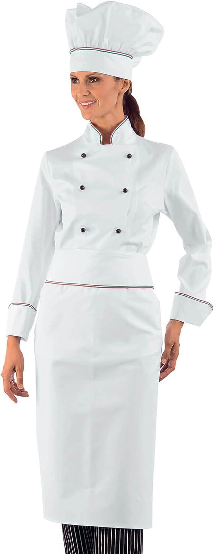 Isacco-Chaqueta para Mujer Jefe Cocinero, 100% algodón, diseño de ...