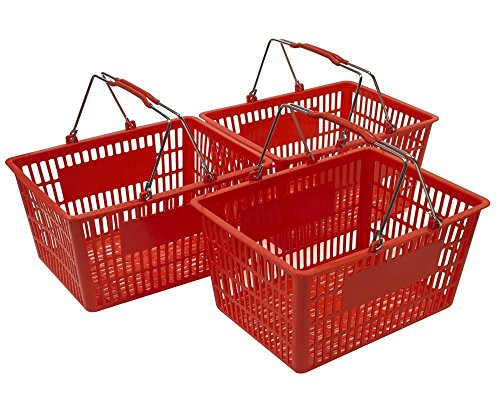 Red Shopping Baskets (Set of 3) by Only Hangers