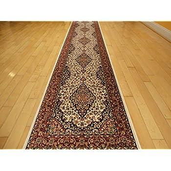 Silk Ivory Area Rug Luxury 2x8 White Classic Carpet 2x7 Hallway Runner Rugs  Persian Area Rugs Narrow Runners Rug (2u0027x8u0027 Hallway Runner)