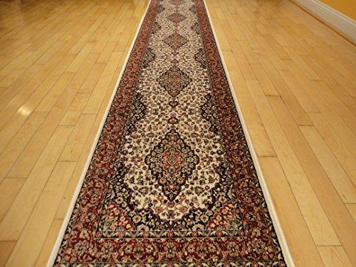Silk Ivory Area Rug Luxury 2x8 White Classic Carpet 2x7 Hallway Runner Rugs Persian Area Rugs Narrow Runners Rug