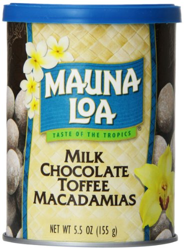 Macadamia Nut Toffee (Mauna Loa Macadamias, Milk Chocolate Toffee, 5.5-Ounce Canisters (Pack of 6))