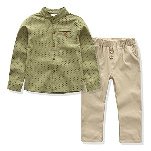 Lyksaw Kids Boys Clothing Set, Handsome Pattern 2 Pieces Outfits (4T) by Lyksaw