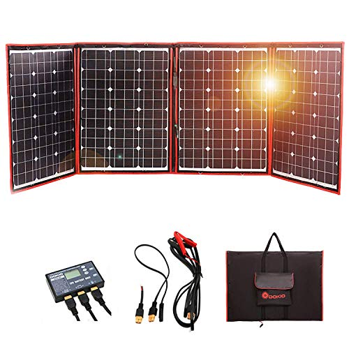 DOKIO 220 Watts 12 Volts Foldable Solar Panel for Travel