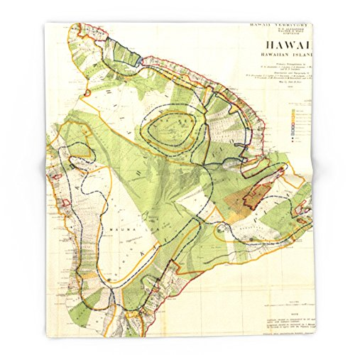 Society6 Vintage Map Of Hawaii Island (1906) 88'' x 104'' Blanket by Society6