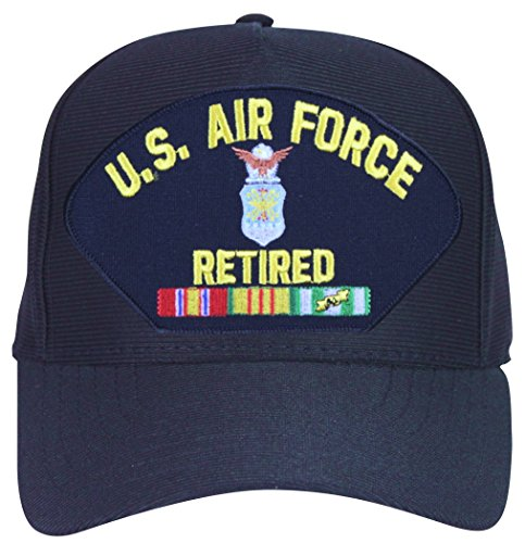 MilitaryBest U.S. Air Force Retired with Crest and Vietnam Ribbons Emblematic Ball Cap