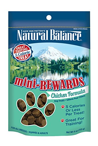 Natural Balance Mini Rewards Dog Treats, Chicken Formula, 4-Ounce