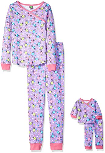 Dollie & Me Little Girls' Candy Snugfit Sleepwear Set, Pu...