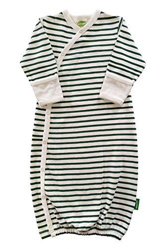 - Parade Organics Kimono Gowns Signature Prints Hunter Green Breton Stripes 0-3 Months