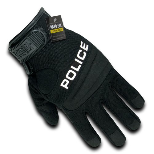 RAPDOM Tactical Police Digital Leather Gloves, Black, Small (Best Tactical Gloves For Police)