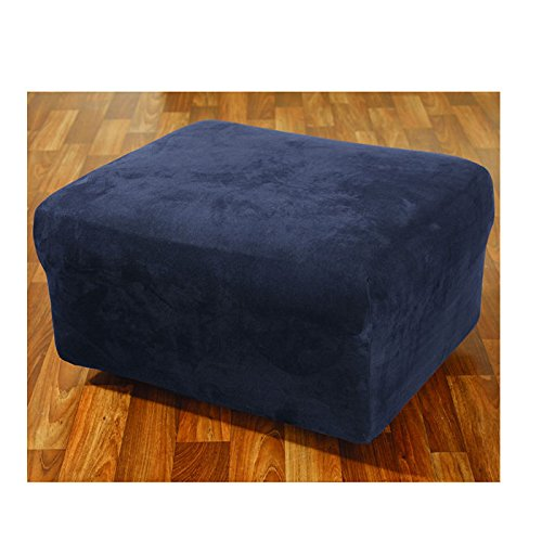 Stretch Suede Ottoman Cover, used for sale  Delivered anywhere in USA
