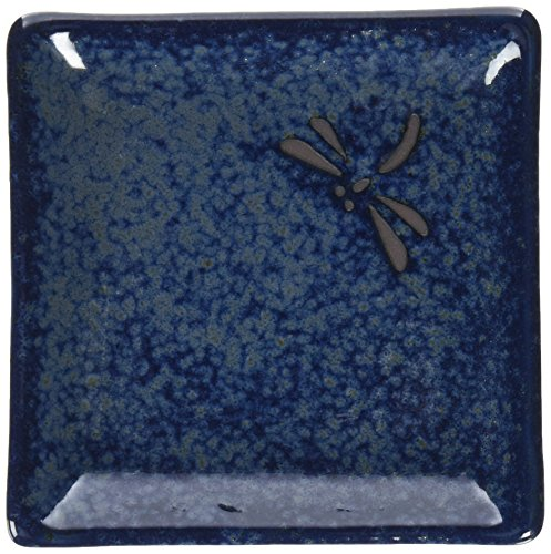 Happy Sales 6 Piece Dragonfly Appetizer Plate Set, Blue ()