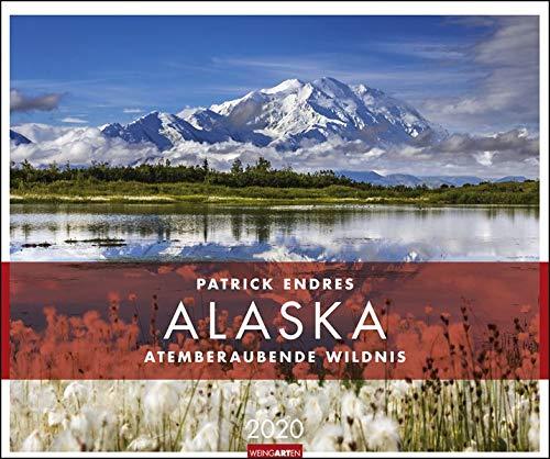 Alaska. Wandkalender 2020. Monatskalendarium. Spiralbindung. Format 55 X 46 Cm