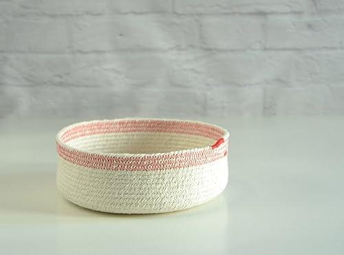 Cuenco de cuerda de algodón blanco y rojo. ENVÍO GRATIS A ESPAÑA ...