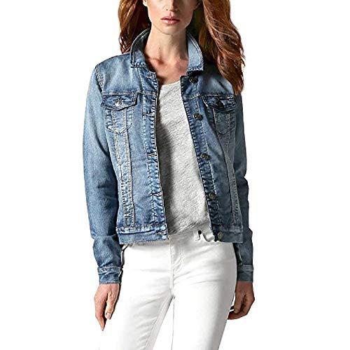(Buffalo Ladies' Knit Denim Jacket (Blue,Medium))