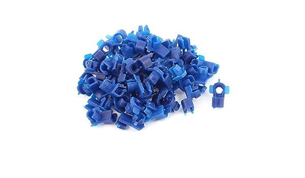 Amazon.com: eDealMax Clips remaches de plástico auto del coche de sujetadores 15 mm x 7 mm x 13 mm 50 piezas Azul: Automotive