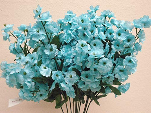 12 Sprays Ruffle Baby Breath Filler Artificial Silk Flowers 15
