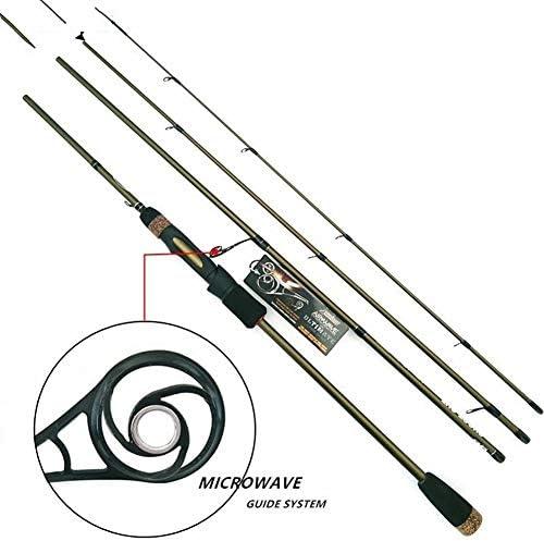 LABAICAI 2.1m 2.4m Spinning cañas de Pescar 4 sección ML M 99% Carbono caña de Pescar caña de Pescar con guía de microondas (Length : 2.1 m): Amazon.es: Deportes y aire libre