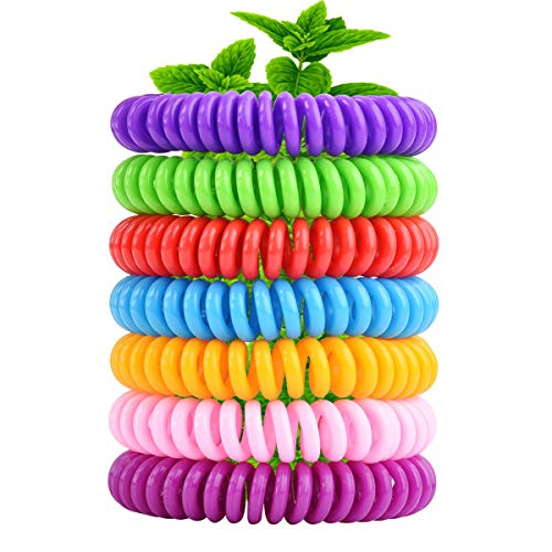 14 Pack Mosquito Repellent Bracelets Natural Bug Repellent Bands Deet-Free Waterproof & Long-Lasting for Camping, Hiking, Outdoors