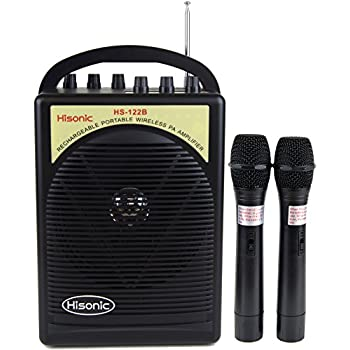 hs122b hh portable lithium battery rechargeable pa public address system with dual. Black Bedroom Furniture Sets. Home Design Ideas