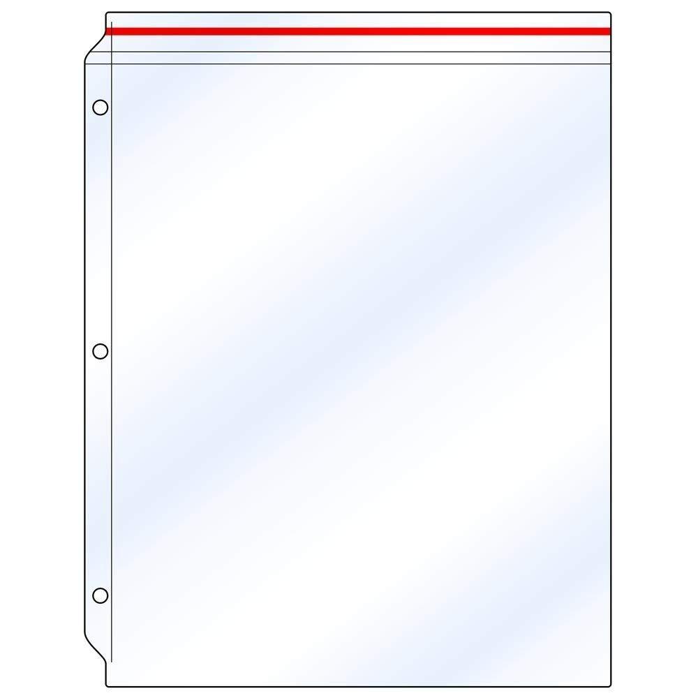 StoreSMART - Supply Zipper Case for 3-Ring Binders - 5-Pack - Vinyl Plastic - VH309-5